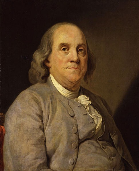 1778 oil portrait of Benjamin Franklin by Joseph Siffrein Duplessis