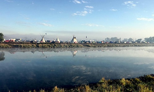 D.A.P.L. Standing Rock September 2016 sunrise at protester camp