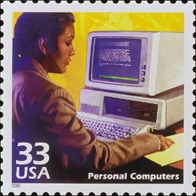 33¢ U.S.P.S. postage stamp of 1999 honoring the Personal Computer